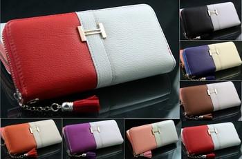 Fashion Women Fringe Purse Wrist Clutch Lady Wallet Zip Around Tassel Trap Card Slot ...