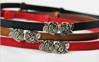 woman belt Strap flower women's rose buckle multicolor belt female  women's belt belts for female free shipping