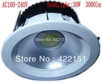 Plastic COB 3000lm 30W Led Light Downlight AC 100-240V