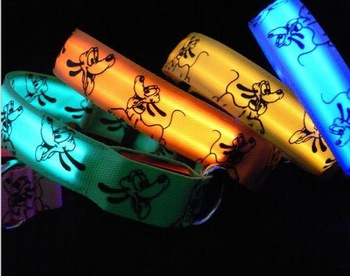 8 colors Glow LED Cat Dog collars Pet Flashing Light Up Safety Collar Pluto Designs S M L