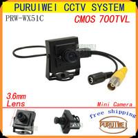 100% Original 1/4'' CMOS 700TVL Mini Video Surveillance Small Hidden Security CCTV Camera ,Free Shipping !