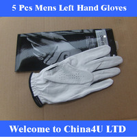 2014 New Arrival 5pcs / lot cabretta Golf Gloves Mens full Leather play essential antiskid A well-known brand OEM
