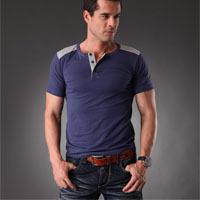 Mens Fashion T shirts Online!2014 Newest Brand Men T-shirts Styles Men Fashion T-shirt 7 Colors,L,XL,XXL,XXXL Free Shipping