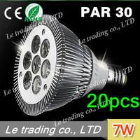 20pcs/lot 7W E27 PAR30 LED Bulb Lamp Light 85-256V  high power LEDs free shipping free shipping