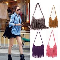 2014 Hot Sale Fashion Shoulder Bag + Vintage Tassel Cross Women Messenger Bags Popular Women Stylish Handbag Free Shipping