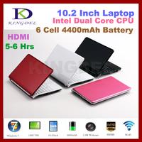 "Hotselling!!!10.2"" Mini Laptop +Netbook ,Intel Atom N2600 Dual Core 1.6Ghz CPU,VGA,HDMI,6 cell 4400MAH Battery,4GB RAM+320GB HDD"