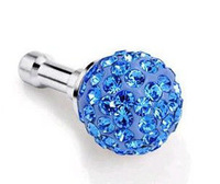 New Movable 100pcs/lot Fashion Swaro Crystal Bling Earphone Jack Plug For i Phone 5 4 4S 3 3S Samsung Galaxy S3 S4