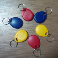 Free shipping(10 pcs) 125khz Writable Keyfobs RFID EM4305 Proximity Rewritable Blank Keychains Access Control token Tags