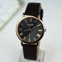 TWL029 2pcs 8%OFF.New 2014 Luxury Brand Dress Watches,Men Genuine Leather Quartz Wristwatches.Roman Scale Male Clock,Relogios