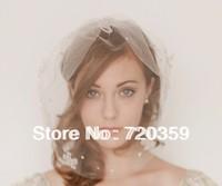 Free shipping!Best Selling Bridal Birdcage Veil, Party Headdress, crystal flowwer veil ,Wedding Accessory vintage ornament