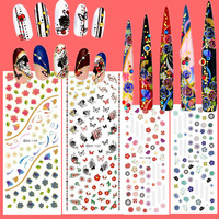 4 pcs 2015 newest water transfer nail art decals sticker nail patch nail DS150-152-156-159 stickers