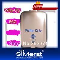 Wifly City 56G wifi usb adapter 10pcs/lot 54Mbps USB Wireless Adapter 1000MW wifi WLAN Low Price