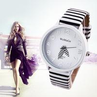 2014 New Fashion WaMaGe Casual Watches Ladies Quartz Watch Fashion Zebra Strap Analog Wristwatch Sports watch Women Dress watch