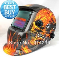Flame skeleton Solar Auto Darkening Welding Helmet  for ARC MAG MIG TIG[welding we are the best]