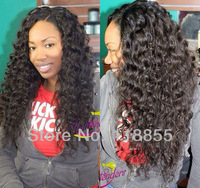 "Virgin Malaysian deep wave hair weave 3pcs lot 10""-30"" 1b unprocessed loose deep wavy curly human hair extensions free shipping"