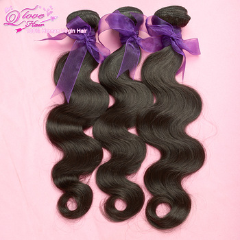 "6A 3pcs/lot Queen love malaysian virgin hair  body wave hair extension,unprocessed hair,natural color,12""-30""Free shipping!"