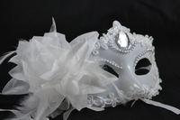 Free  shipping party mask masquerade masks venetian mask halloween mask Side flower mask 02