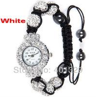 Free Shipping!Big discounts!Gift Battery Elegant Fashion Shamballa Bracelet Watch Wholesale gift battery