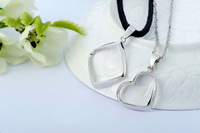 "100% sterling silver Lovers necklaces & pendants ""Love Forever""  Pair w/ 18'' Sterling Chain jewelry sets for couples  new 2013"