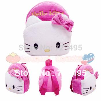 3D hello kitty the children's cartoons bags / plush small backpacks for boys and girls kids / the knapsacks are children's