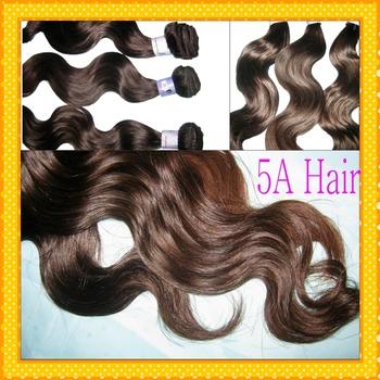 Medium Brown shade VIRGIN body waves brazilian hair sew in weave,mixed  3pcs/lot 6A WestKiss Hair