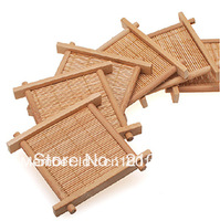 Tea Bamboo Fun Pad Kung Fu Tea with Natural Bamboo Tea Coaster Cup Mat