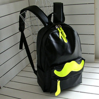 New 2014  fashion PU leather school backpack mustache candy color student school bag for teenagers girl boy mochilas 4 colors