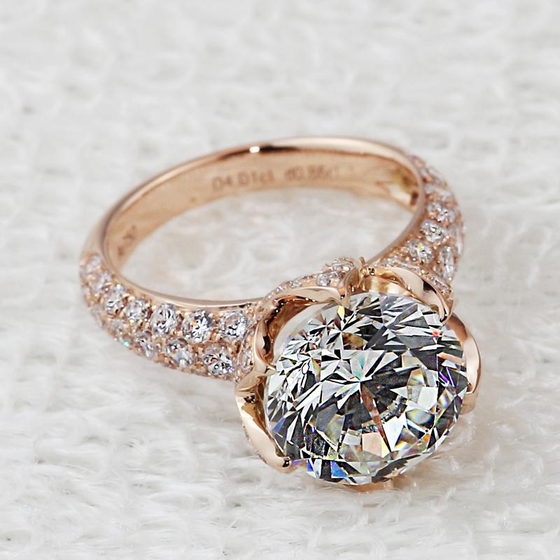 Rose Gold Diamond Ring Band Diamond Rings Rose Gold