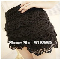 New Fashion Shorts skirts women's shorts/High Quality Sexy Ladies' Safety Pants/Solid Color Multi-layer Lace Design Shorts/WFW