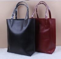 women leather handbags women messenger handbags cowhide star style Fashion brief one shoulder casual tote NEW 2015 big bag