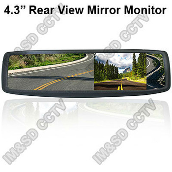 Free Shipping 4.3 inch TFT Color LCD car mirror rear view mirror car monitor 2CH AV Input for a Reversing Camera Free Shipping