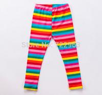 yy15 striped  design girl legging casual kids rainbow leggings tihgts 5pcs/ lot free shipping
