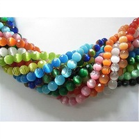 "Cat Eye Beads Strands,  Faceted Round,  Mixed Color,  about 8mm in diameter,  hole: 1mm,  50pcs/strand,  15.5""/strand"