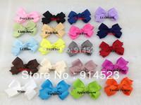 100pcs/lot 20 colors,8cm,for kids girl,boutique bow,hair bow grosgrain