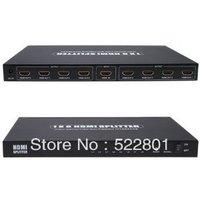 1 x 8 Full HD 1080P HDMI 1.4 Splitter with Switcher Converter Support 3D & 4K x 2K Digital Audio Format