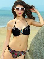 Free Shipping 2013 New Arrival Beach Bandeau Top Beach Sexy Fiesta Low-rise Bikini Bottom Beachwear Swimwear VS Bikini Set