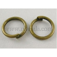 JumpRings,  Close but Unsoldered,  Brass,  Antique Bronze,  about 6mm in diameter,  1mm thick,  about 4900pcs/500g