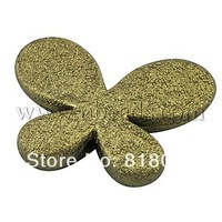 Spray Painted Acrylic Beads,  Matte Style,  Butterfly,  Olive,  about 46mm long,  35mm wide,  8mm thick,  hole: 3mm