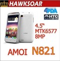 "Amoi N821 4.5"" IPS dual core Smartphone MTK6577 1GHz WCDMA 8.0MP Camera WCDMA GPS WIFI"