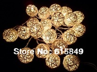 20pcs white color ratten ball home decoration lighting wedding party decoration