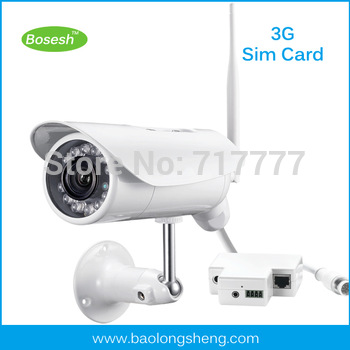 Long Range Long Distance waterproof wireless IP 3G camera with SIM card slot,APP for iPhone Android