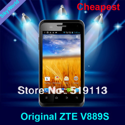 Free Shipping Original ZTE V889S/Blade C Dual-core 1GHz 512M+4GB 4.0'' Screen Dual SIM Android 4.1 GSM/WCDMA 3G Russian Phone(China (Mainland))