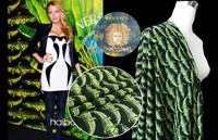 Crocodile Printed Silk Crepe De Chine Garment Shirt Fabric DIY Cloth Limited Specials.