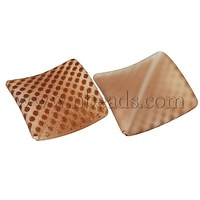 Rubberized Acrylic Beads,  Sienna,  rhombus,  about 22mm long,  22mm wide,  3mm thick,  hole: 2mm,  about 277pcs/500g