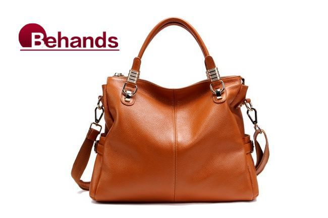 2013 Best Seller!!! Top Grain Genuine Leather Hangbags ,Women's Leather Totes Shoulder Bags 6 Colors HL0951+FreeShipping(China (Mainland))