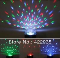 6LED RGB Crystal Magic Ball Effect Light  Disco DJ Stage Lighting Free Shipping wholesale