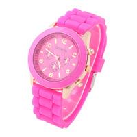 10pcs/lot Unisex Geneva Fashion Popular Watch Silicone Quartz Watch Colourful Hot style 2014 LJX12