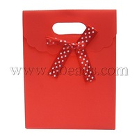 Gift Shopping Bag,  Mother's Day Mother's Day Gift Bags ,  Plastic,  Rectangle,  Red,  Size: about 6cm wide,  12cm long
