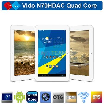 Vido N70HDAC Quad Core 7 inch IPS Screen 1280*800 Pixels Tablet PC ARM Cortex-A9 Family Quad Core Android 4.2 1GB RAM 8GB ROM