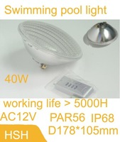 40W PC  Par56 LED swimming pool light with 546 f5 dip High brightness Small Power  LED  leds